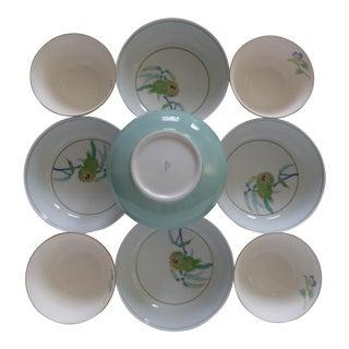 Fukagawa Hand Painted Botanical Bowls - Set of 9