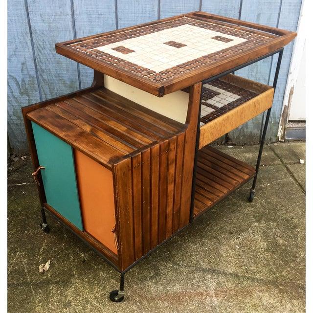 Arthur Umanoff Mid-Century Bar Cart For Sale - Image 11 of 11