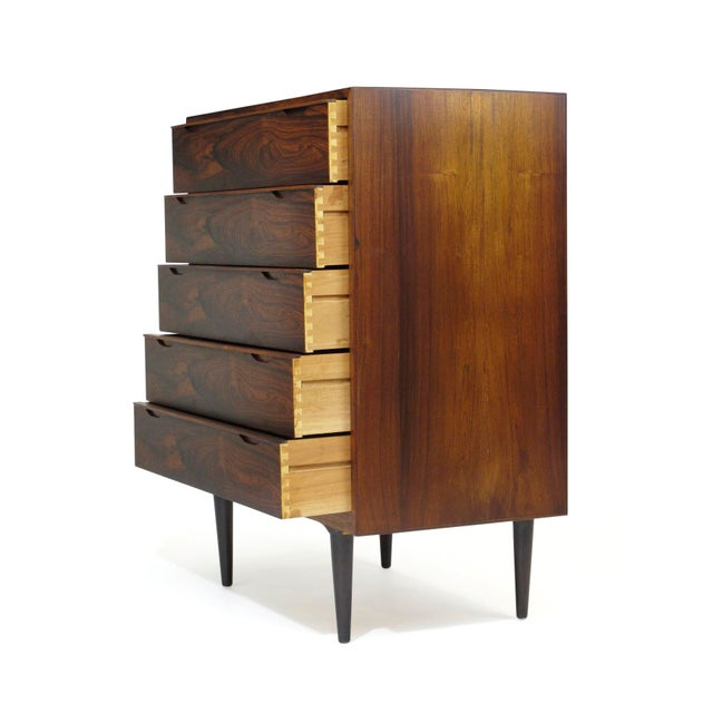Vintage Mid Century Danish Brazilian Rosewood Chest of Drawers For Sale - Image 9 of 12