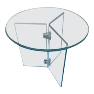 Mid-Century Modern Pace Glass Pedestal Table