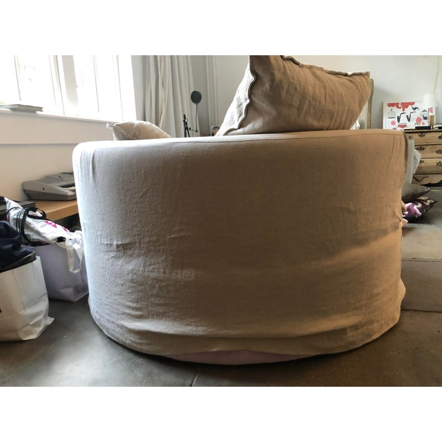 Custom Made Round Love Seat For Sale - Image 4 of 8