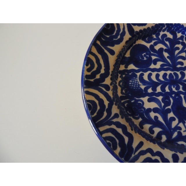 Vintage Hand Painted Spanish Decorative Dish For Sale - Image 4 of 6