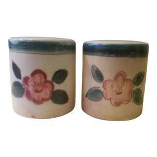 Early Mid Century Stangl Flowers Salt and Pepper Shakers - a Pair For Sale