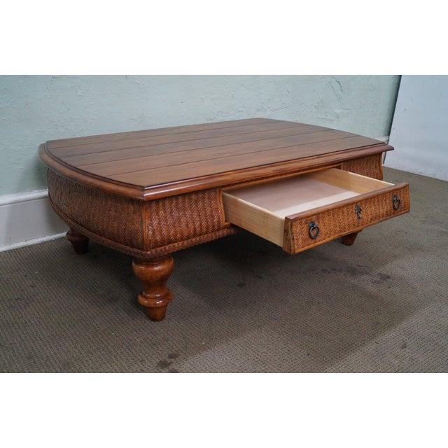 tommy bahama for lexington rattan coffee table chairish