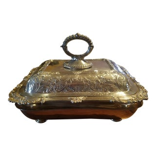 Georgian Sheffield Silver Plate Rococo Covered Warming Dish and Under Tray C. 1780-1800 For Sale