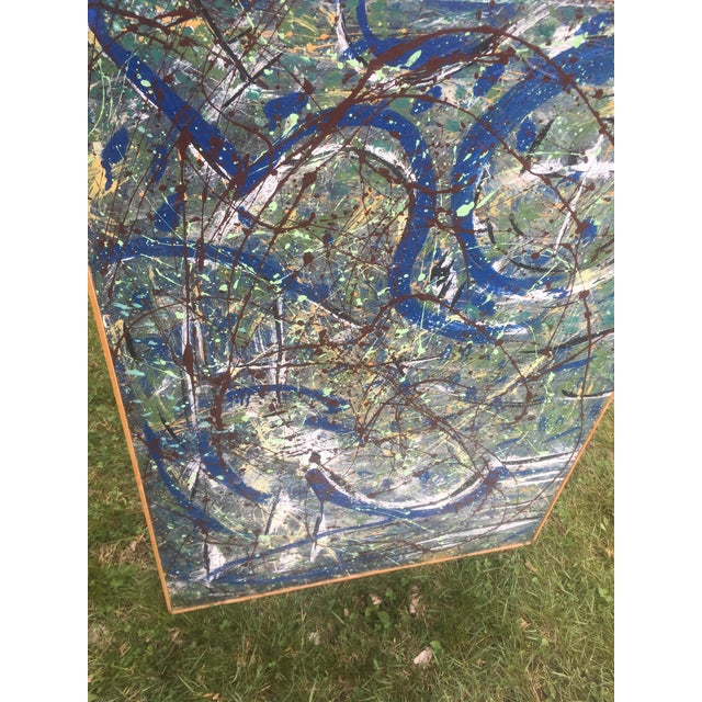 Abstract Abstract Expressionist Drip Glaze Style Painting For Sale - Image 3 of 13