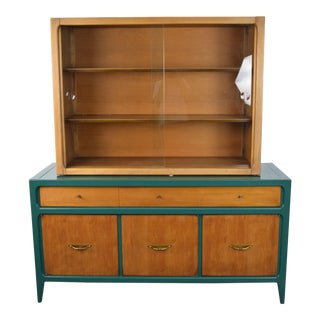 1960 Mid Century Modern Lane Furniture China Cabinet For Sale