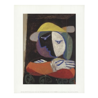 2001 Pablo Picasso 'Femme Au Balcon' Modernism France Offset Lithograph For Sale