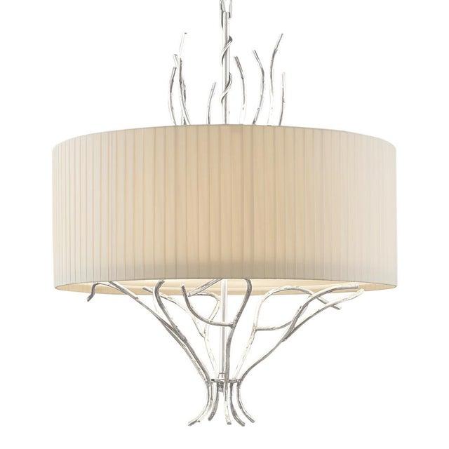 Florentine Antique Silver Leaf Lamp For Sale - Image 4 of 4