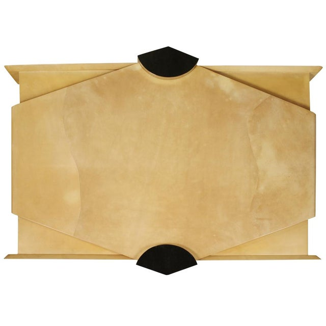 Modern Custom Parchment 'Concorde' Cocktail Table by Lorin Marsh For Sale - Image 3 of 7