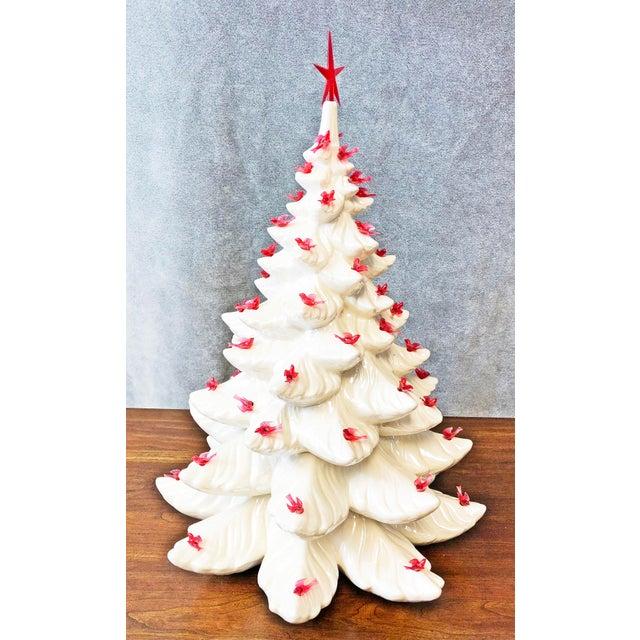 mid century white ceramic christmas tree for sale image 6 of 13 - White Ceramic Christmas Tree