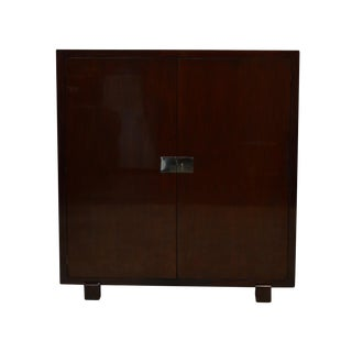 20th Century Traditional Ralph Lauren Mahogany Bar Liquor Cabinet For Sale
