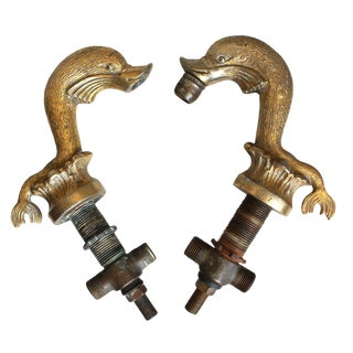 Pair of Brass Faucets For Sale