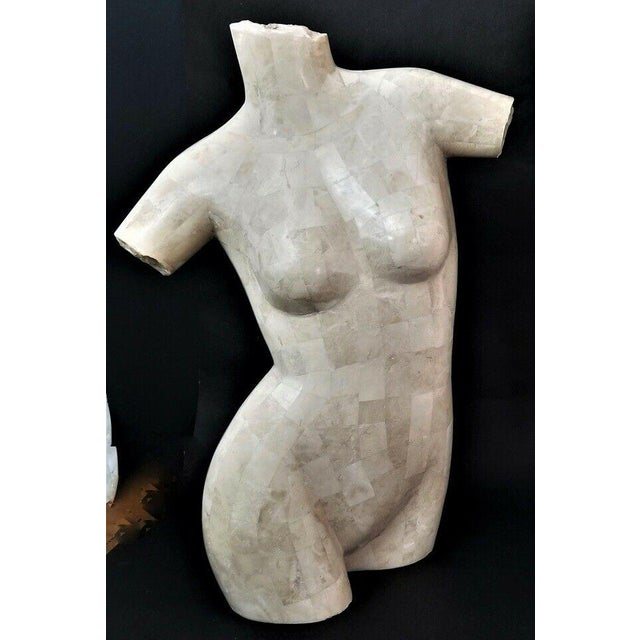1990s Marquis Collection Beverly Hills Tessellated Stone Female Nude Torso For Sale - Image 5 of 7