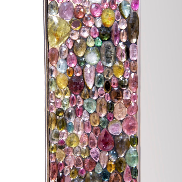 Contemporary Kam Tin, Unique Mirror in Tourmaline Gemstone, France For Sale - Image 3 of 5