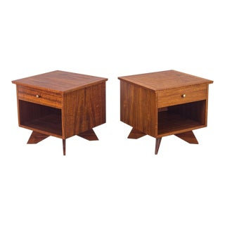 George Nakashima Origins Nightstands for Widdicomb - a pair For Sale