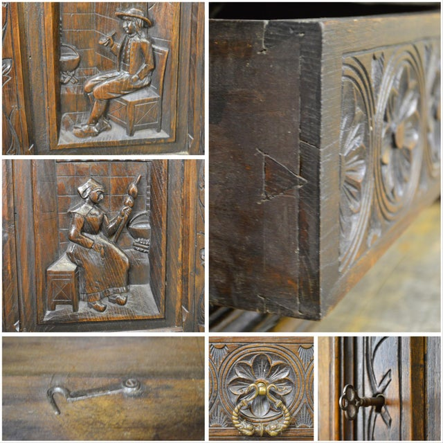 Antique Jacobean Flemish Carved Cabinet - Image 6 of 11