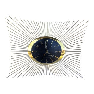 1950s General Electric Sunburst Wall Clock