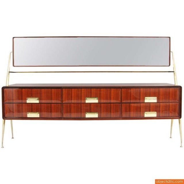 Art Deco 1955 Italian Silvio Cavatorta Cabinet For Sale - Image 3 of 8