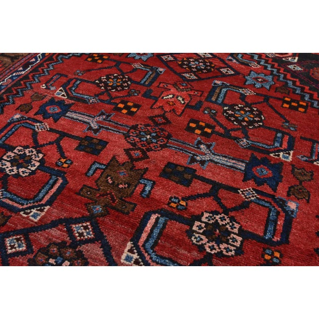 Textile Vintage Persian Hamadan Runner - 4'2'' X 10' For Sale - Image 7 of 13