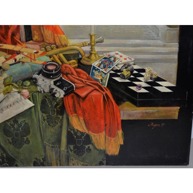 Surrealism Late 20th Century Surreal Still Life Landscape by Ayers C.1995 For Sale - Image 3 of 13