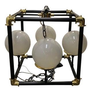 Mid-Century Modern Globe in Square Pendant For Sale