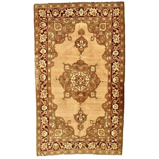 1920s Antique Persian Tabriz Rug - 4′8″ × 7′10″ For Sale