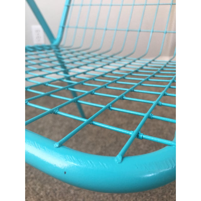1950s Vintage Emu Industrial Metal Aqua Patio Chairs - Set of 4 For Sale - Image 10 of 13