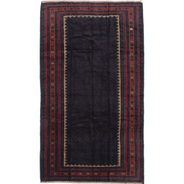 "Hand-Knotted Afghan Rug - 5'9"" X 10'1"" - Image 1 of 2"