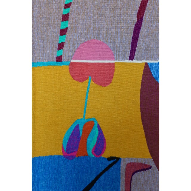 Contemporary Abstract Tapestry by Steve Zoller For Sale - Image 9 of 10