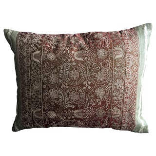Luxury Embroidered Silk Decorative Pillow For Sale