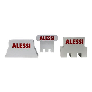 Set of 3 Alessi Advertising Pieces Attributed to Alessandro Mendini For Sale