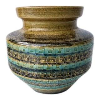 1970's Vintage West Germany Pottery Vase For Sale