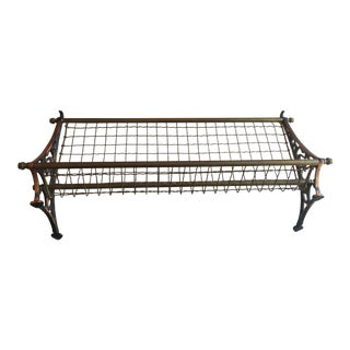 Antique Copper and Brass Pullman Train Coat Rack For Sale