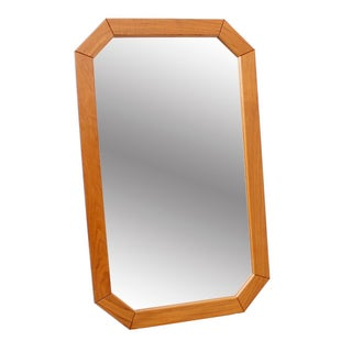 Danish Modern Octagonal Mirror For Sale
