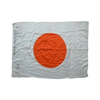 Captured Japanese WWII Rising Sun Battle Flag For Sale