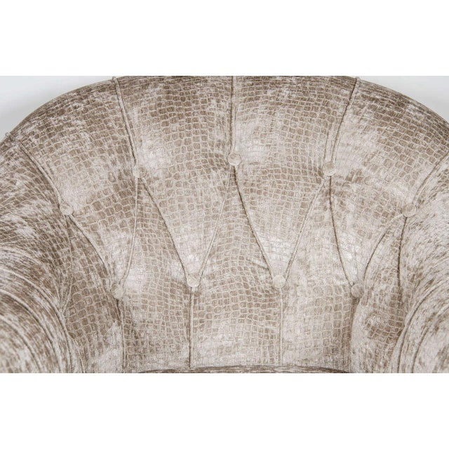 1950s Mid-Century Modernist Tufted Button Back Club Chair For Sale - Image 5 of 8