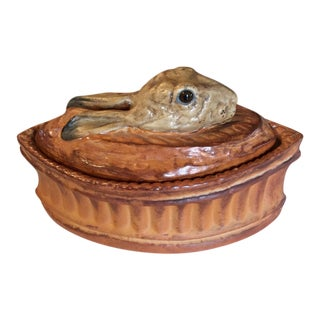 French Rabbit Game Tureen by Pillivuyt For Sale