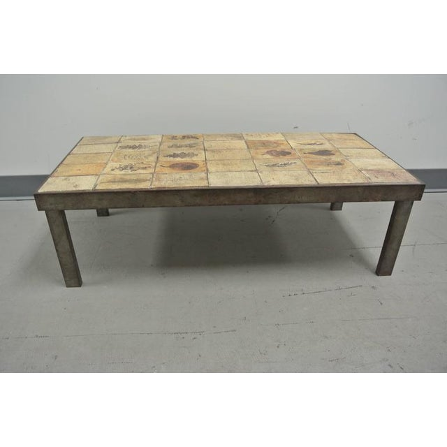 French Garrigue Tile Coffee Table by Roger Capron For Sale - Image 3 of 10