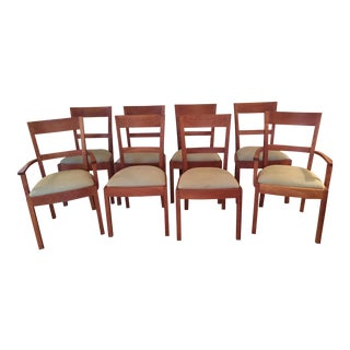 1990s Transitional Cherry Dining Chairs - Set of 8 For Sale