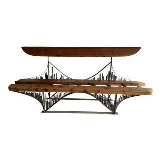Brutalist Craftsmanship Bridge Bench For Sale