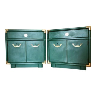1960s Campaign Drexel Nightstands - a Pair For Sale