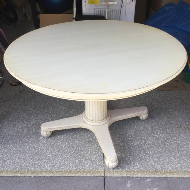 Ethan Allen Swedish Home Pedestal Dining Table - Image 2 of 9