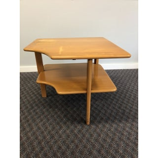 Vintage Mid Century Modern Wood Corner Table in the Style of Heywood Wakefield Preview