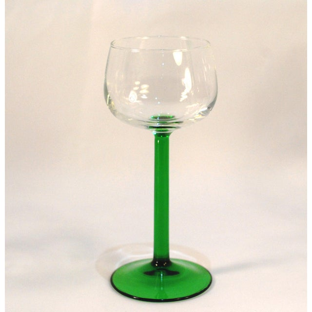 Emerald Green Cristal d'Arques Wine Glasses - Set of 6 - Image 3 of 5