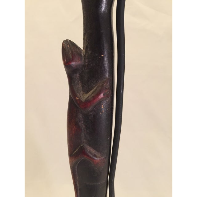 Carved African Spoon on Mount For Sale In Chicago - Image 6 of 7