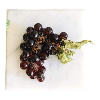 Vintage French Glass Grape Cluster For Sale