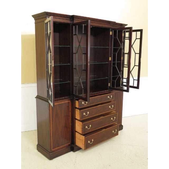 Mahogany Kittinger Richmond Hill Collection Mahogany Breakfront For Sale - Image 7 of 14