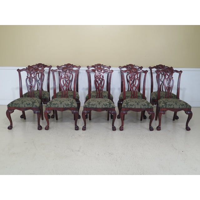 Modern Century Ball & Claw Dining Room Chairs- Set of 10 For Sale - Image 13 of 13