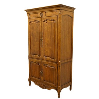 20th Century Traditional Henredon Furniture Media Armoire Cabinet For Sale